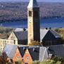 clock tower on Cornell University because CAHRS partner meetings are held on campus